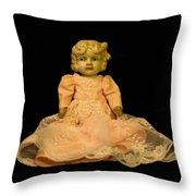 Antique Doll 2 Throw Pillow