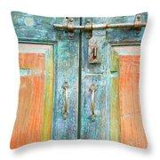 Antique Doors Throw Pillow