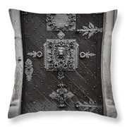Antique Doors In Budweis Throw Pillow by Christine Till