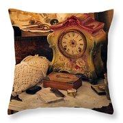 Antique Dresser  Throw Pillow by Maria Angelica Maira