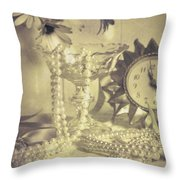 Antique Dressing Table Throw Pillow