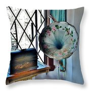 Antique Edison Phonograph In The Boardwalk Plaza Lobby - Rehoboth Beach Delaware Throw Pillow