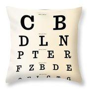 Antique Eye Chart Throw Pillow
