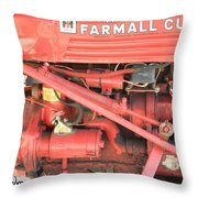 Antique Farmall Cub Engine Throw Pillow