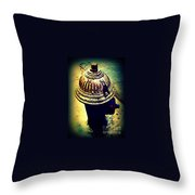 Antique Vintage Fire Hydrant - Multi-colored Throw Pillow