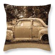 Antique Ford Car Sepia 1 Throw Pillow