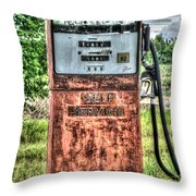 Antique Gas Pump 1 Throw Pillow