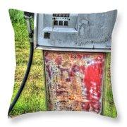 Antique Gas Pump 3 Throw Pillow