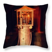 Antique Gasoline Pump Throw Pillow