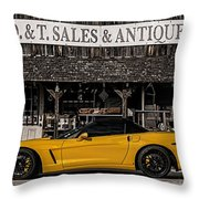 Antique Gold Throw Pillow
