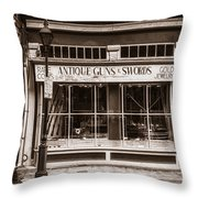Antique Guns And Swords - French Quarter Throw Pillow