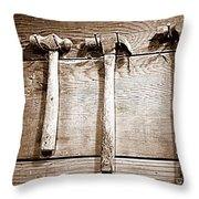 Antique Hammers Throw Pillow