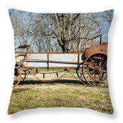 Antique Hay Bailer 3 Throw Pillow by Douglas Barnett