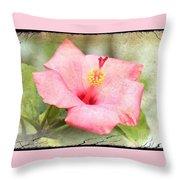 Antique Hibiscus Throw Pillow