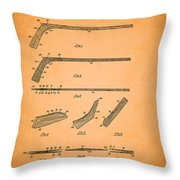 Antique Hockey Stick Patent 1935 Throw Pillow