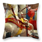 Antique Horse Cart Throw Pillow by Michelle Calkins