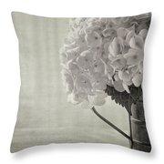 Antique Hydrangea Throw Pillow