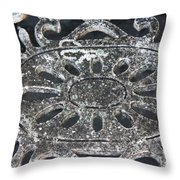 Antique In Black And Grey Throw Pillow