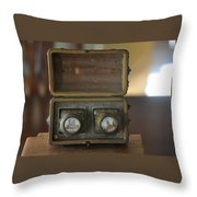 Antique Ink Wells Throw Pillow