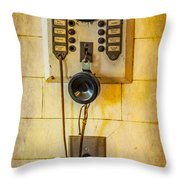 Antique Intercom Throw Pillow