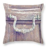 Antique Knocker Throw Pillow