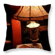 Antique Lamp Throw Pillow