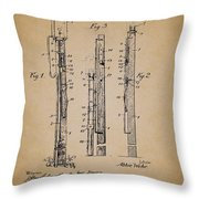Antique Lamp Post Attachment Patent Throw Pillow