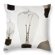 Antique Light Bulbs Throw Pillow