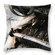 Antique Machinery Throw Pillow by Barbara D Richards