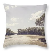 Antique Mangrove Landscape Throw Pillow