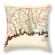 Antique Map Of Connecticut  Throw Pillow