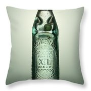 Antique Mineral Glass Bottle Throw Pillow