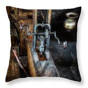 Antique Mortising Machine Throw Pillow