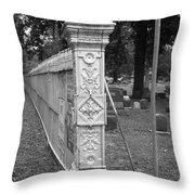 Antique Ornate Post Throw Pillow