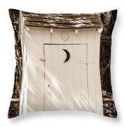 Antique Outhouse Throw Pillow