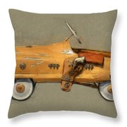 Antique Pedal Car L Throw Pillow