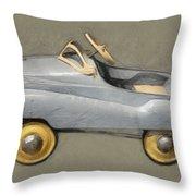 Antique Pedal Car Ll Throw Pillow