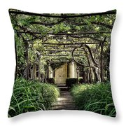 Antique Pergola Arbor Throw Pillow