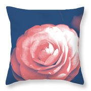 Antique Pink Camellia Flower Throw Pillow