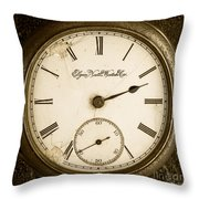 Antique Pocket Watch Throw Pillow