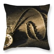 Antique Pocket Watch On Chain Throw Pillow