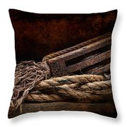 Antique Pulley Throw Pillow