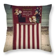 Antique Punch And Judy Throw Pillow