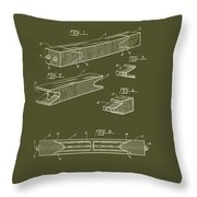 Antique Railroad Tie Patent 1915 Throw Pillow