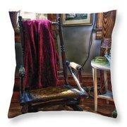 Antique Rocking Chair Throw Pillow