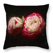 Antique Romance Throw Pillow
