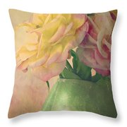 Antique Roses Throw Pillow