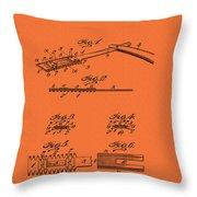 Antique Safety Razor Patent 1912 Throw Pillow