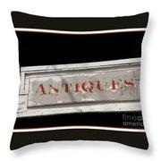 Antique Sign Throw Pillow
