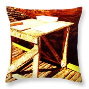 Antique Splitting Table 2 Throw Pillow